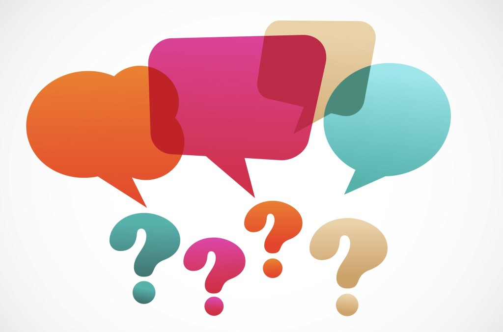question mark with speech bubles, vector on the abstract background